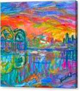 Memphis Spin Canvas Print