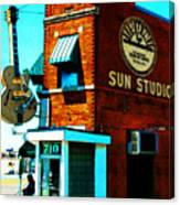 Memphis Sun Studio Birthplace Of Rock And Roll 20160215sketch Canvas Print