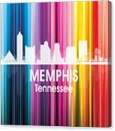 Memphis Tn 2 Squared Canvas Print