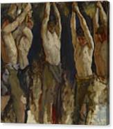 Men At An Anvil, Study For The Spirit Of Vulcan Canvas Print