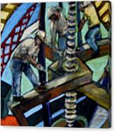 Men At Work Canvas Print