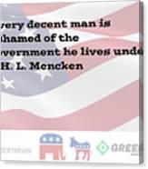 Mencken Quote 3 Canvas Print