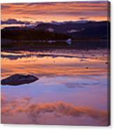 Mendenhall Sunset Canvas Print