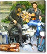 Mens Best Friend Canvas Print