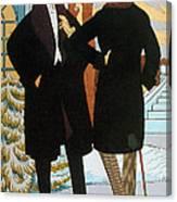 Mens Fashion, 1919 Canvas Print