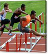 Mens Hurdles Canvas Print