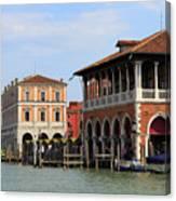 Mercato Di Rialto In Venice Italy Canvas Print