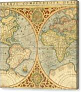 1587 World Map.Mercator 1587 World Map Photograph By C H Apperson