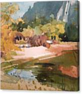 Merced River Encounter Canvas Print
