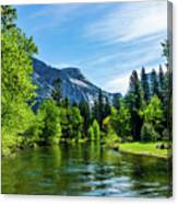 Merced River In Yosemite Valley Canvas Print