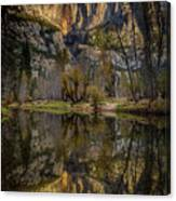 Merced River Morning Light Reflection Canvas Print