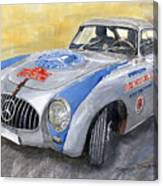 Mercedes Benz 300 Sl 1952 Carrera Panamericana Mexico  Canvas Print