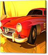 Mercedes-benz 300 Sl Red Canvas Print