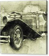Mercedes-benz Ssk 1 - 1928 - Automotive Art - Car Posters Canvas Print