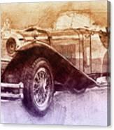 Mercedes-benz Ssk 2 - 1928 - Automotive Art - Car Posters Canvas Print