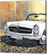 Mercedes Benz W113 280 Sl Pagoda Front Canvas Print