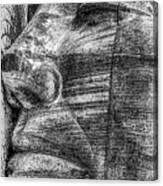 Merchant Seafarers War Memorial Cardiff Bay Black And White Canvas Print