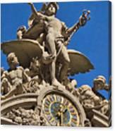 Mercury Clock At Grand Central Terminal Canvas Print