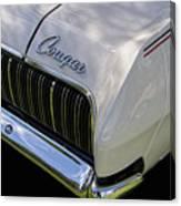 Mercury Cougar Xr7 Emblem Canvas Print