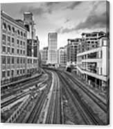 Merging Tracks Canvas Print