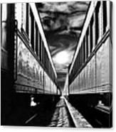Merging Trains Canvas Print
