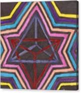 Merkaba Radiating Canvas Print