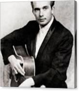 Merle Haggard, Music Legend By John Springfield Canvas Print