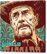 Merle Haggard Pop Art Canvas Print