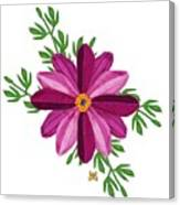 Merlot Cosmos Botanical Canvas Print