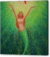 Mermaid Art- Mermaid's Starlight Canvas Print