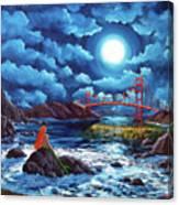 Mermaid At The Golden Gate Bridge  Canvas Print