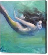 Mermaid Freedom Canvas Print
