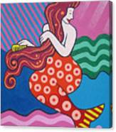 Mermaid In The Morning Canvas Print
