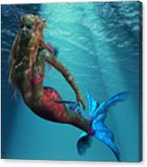 Mermaid Of The Ocean Canvas Print