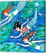 Mermaid Race Canvas Print