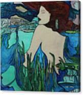 Mermaid  Sleeping Canvas Print