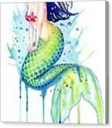 Mermaid Splash Canvas Print