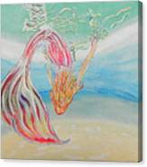 Mermaid Summer Salt Canvas Print