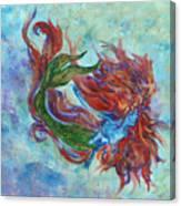 Mermaid Swimming Canvas Print
