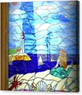 Mermaid Window  Canvas Print