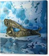 Mermaid With Sea Spray By Nanzy Canvas Print