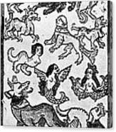 Mermaids, 1475 Canvas Print