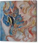 Mermaids Kiss Canvas Print