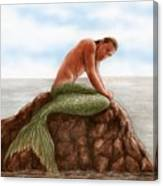 Merman Resting Canvas Print