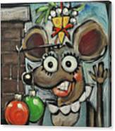 Merry Chrismouse Canvas Print