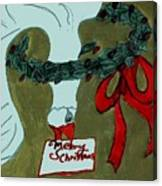 Merry Christmas Goose Canvas Print