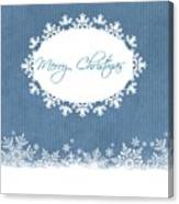 Merry Christmas In Blue Canvas Print