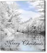 Merry Christmas - Lykens Reservoir Canvas Print