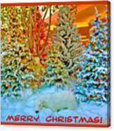 Merry Christmas Polar Bears Canvas Print