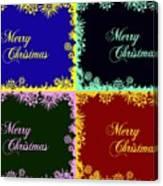Merry Christmas Pop Art Canvas Print